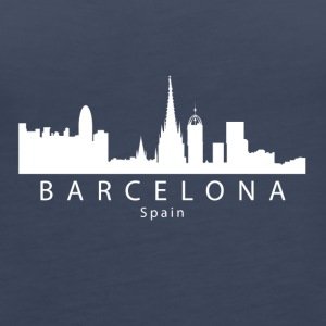 Barcelona Spain Skyline - Women's Premium Tank Top