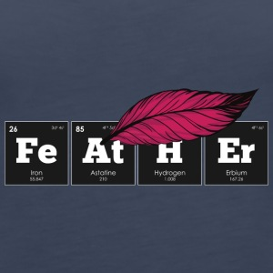 Periodic Elements: FeAtHEr - Women's Premium Tank Top