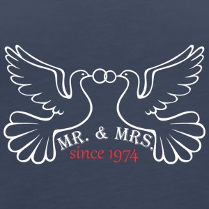 Mr And Mrs Since 1974 Married Marriage Engagement - Women's Premium Tank Top