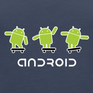 android logo T shirt - Women's Premium Tank Top