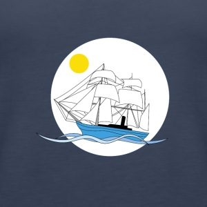 Morning tall ship - Women's Premium Tank Top