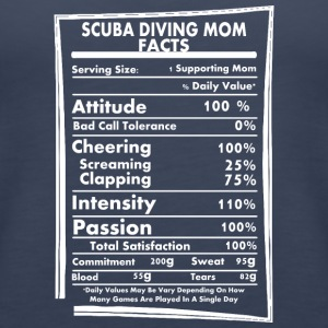 Scuba Diving Mom Facts Daily Values May Be Vary - Women's Premium Tank Top