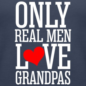 Only Real Men Love Grandpas - Women's Premium Tank Top