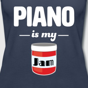 Piano is my Jam - Women's Premium Tank Top