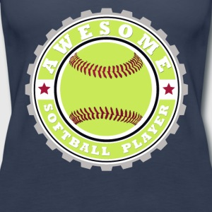 Symbol of an Awesome Softball Player - Women's Premium Tank Top