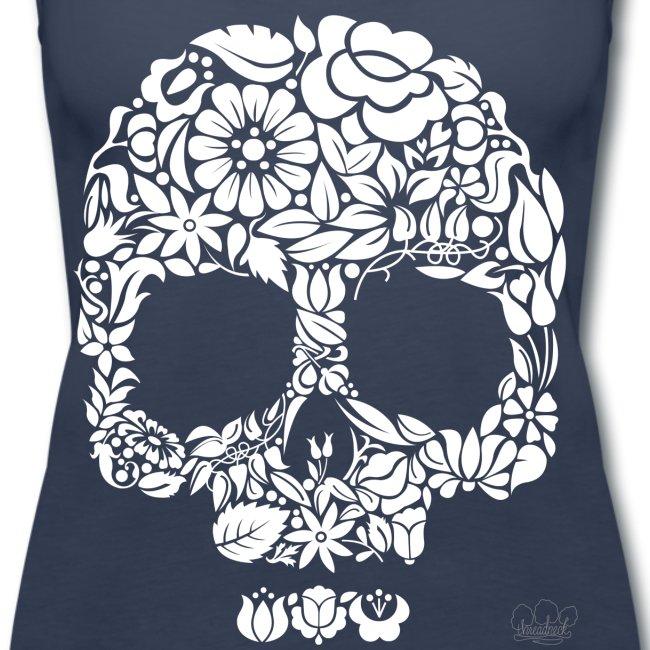 flower skull2 png