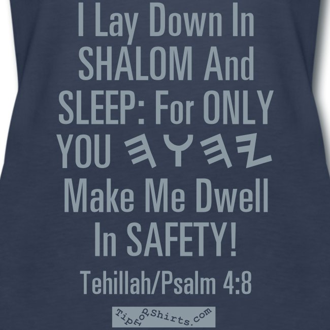 Bed Time Psalm 4 8 Shirt Front