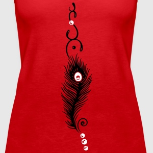 Feather, peacock feather, indian style, jewelry - Women's Premium Tank Top