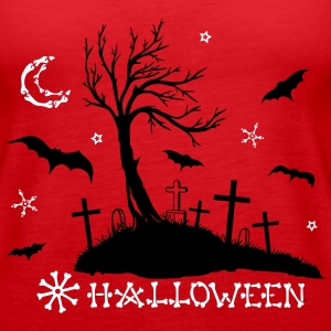 Halloween tree silhouette - Women's Premium Tank Top