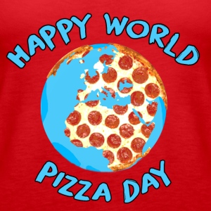 Happy World Pizza Day - Women's Premium Tank Top
