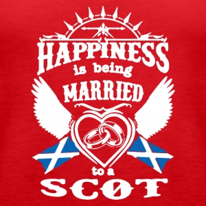 MARRIED TO A SCOT TEE SHIRT - Women's Premium Tank Top