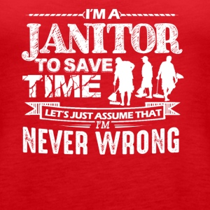 I'm A Janitor Shirts - Women's Premium Tank Top