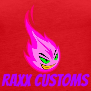 Fire RAXX CUSTOMS logo pink and green - Women's Premium Tank Top