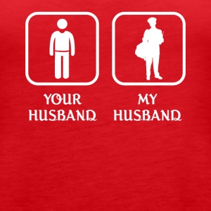 Husband Mailman Love- cool shirt,geek hoodie,tank - Women's Premium Tank Top