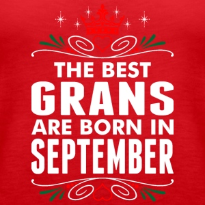 The Best Grans Are Born In September - Women's Premium Tank Top
