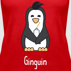 Ginguin - A penguin who really loves gin - Women's Premium Tank Top