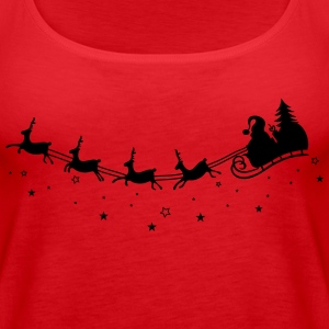 Merry Christmas. Reindeer with sleigh - Women's Premium Tank Top