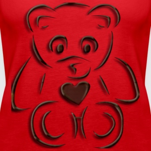 realistic teddy - Women's Premium Tank Top