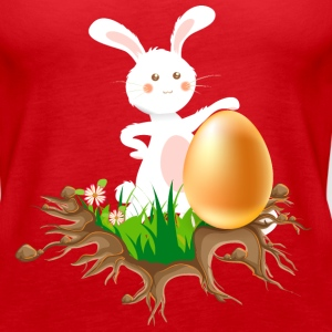 Easter bunny with Egg - Women's Premium Tank Top