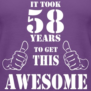 58th Birthday Get Awesome T Shirt Made in 1959 - Women's Premium Tank Top