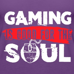 Gaming Is Good For The Soul Funny Video Games Play - Women's Premium Tank Top