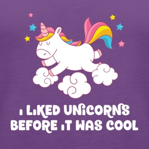 I liked unicorns before it was cool - Women's Premium Tank Top