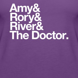 Amy & Rory & River & The Doctor. - Women's Premium Tank Top