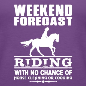 WEEKEND FORECAST RIDING TEE SHIRT - Women's Premium Tank Top