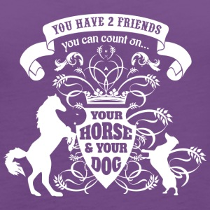 Horse Dog Friends Love - Women's Premium Tank Top