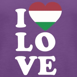I love Hungary - Women's Premium Tank Top