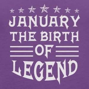 January The Birth of Legend - Women's Premium Tank Top
