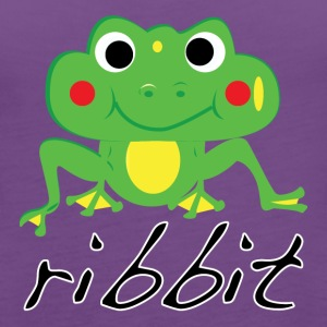 Funny ribbit frog product. - Women's Premium Tank Top