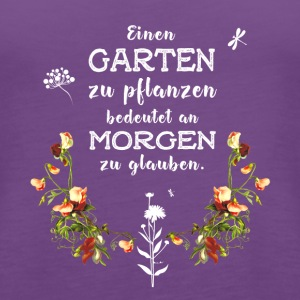 garden Garten german Slogan Love plant flower gree - Women's Premium Tank Top
