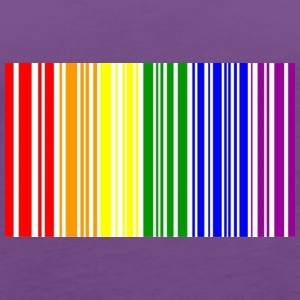 LGBT Bar Code - Women's Premium Tank Top