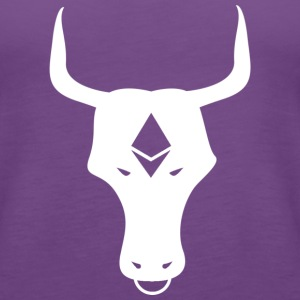ether bull white - Women's Premium Tank Top