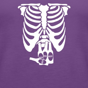 Beer Belly Xray Skeleton Funny - Women's Premium Tank Top