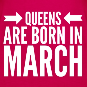 Queens Born March - Women's Premium Tank Top