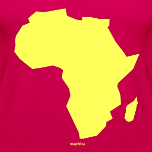 Africa Map Continent yellow - Women's Premium Tank Top