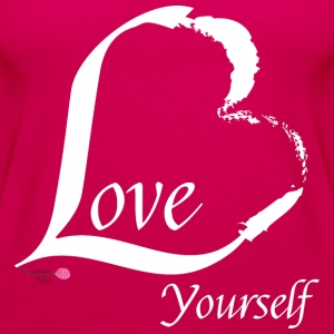 Love Yourself in white - Women's Premium Tank Top