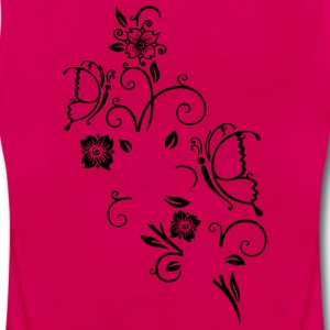 Cherry blossoms with butterflies - Women's Premium Tank Top