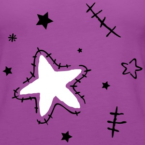 Stars with cracks, grunge style - Women's Premium Tank Top