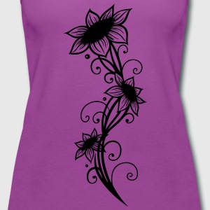 Large sunflowers with filigree ornament. - Women's Premium Tank Top