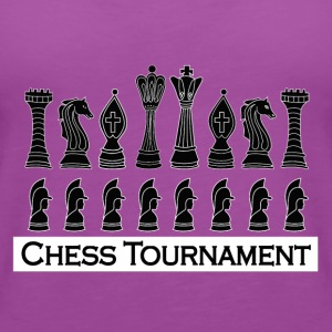 chess tournament black - Women's Premium Tank Top