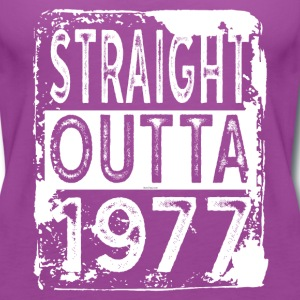 Funny 40th Birthday Gift: Straight Outta 1977 Tee - Women's Premium Tank Top