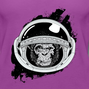 Space monkey Black and white Art - Women's Premium Tank Top