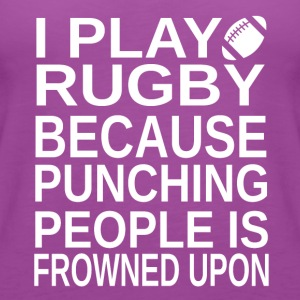 Rugby-I play-cool shirt,geek hoodie,cute tank top - Women's Premium Tank Top