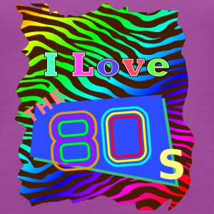 I love the 80s 001 - Women's Premium Tank Top