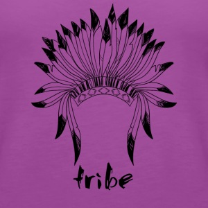 Tribe (Native American Black) - Women's Premium Tank Top