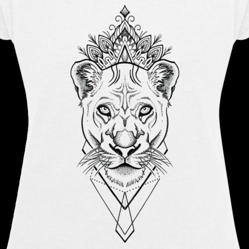 white lion - Women's Roll Cuff T-Shirt