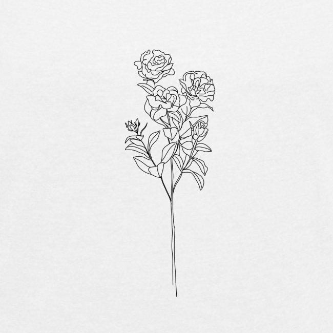 Minimal Floral Line Art Print